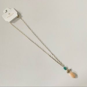 NEW Panacea 3 Stone Long Chain Necklace